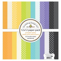 "Pumpkin Party Paper Pack 12""x12"" Doodlebug"