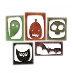 Halloween Hangouts Thinlits Dies by Tim Holtz Sizzix