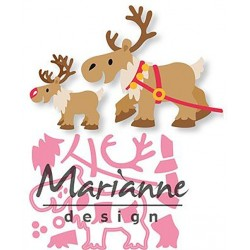 Reindeer Collectables Dies Marianne Design