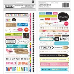 Field Notes Phrase/Multi Chipboard Thickers Stickers Vicki Boutin