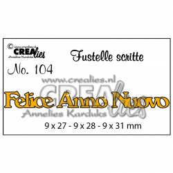Die no.104 Felice Anno Nuovo 104 Set Cutting Die Crealies