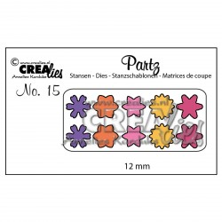 Die no.15 Flowers Partz15 Set Cutting Die Crealies