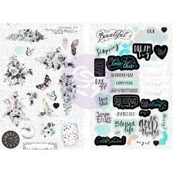 Flirty Fleur Chipboard Stickers Prima Marketing