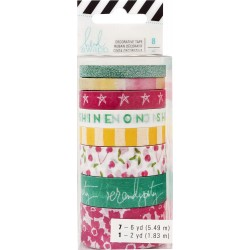 Shine On Storyline2 Washi Tape Rolls 8 Pkg Heidi Swapp American Crafts