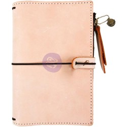 Peach Prima Traverler's Journal Leather Essential Prima Marketing