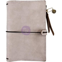 Warm Stone Prima Traverler's Journal Personal Size Leather Essential Prima Marketing