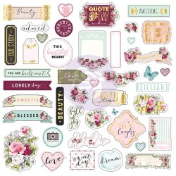 Misty Rose Ephemera Cardstock Die-Cuts Paper Tickets Prima Marketing