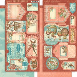 """Imagine Tags & Pockets Cardstock Die Cuts 6""""x12"""" Graphic45"""