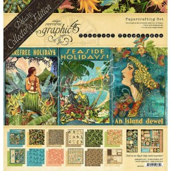 Tropical Travelogue Deluxe Collector's Edition Papercrafting Set Graphic45