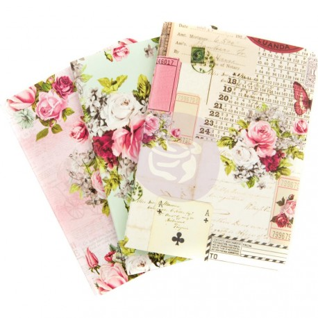 Misty Rose Notebook Inserts Set Passport Size Prima Marketing