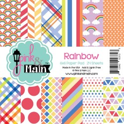 "Rainbow Double-Sided Paper Pad 6""x6"" Pink & Main"