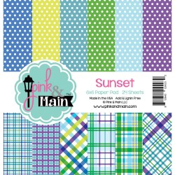 "Sunset Double-Sided Paper Pad 6""x6"" Pink & Main"
