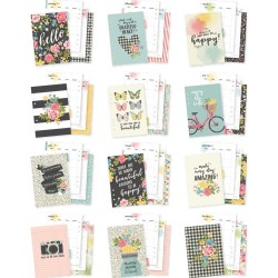 Hello A5 Monthly Planner Inserts Double-Sided Carpe Diem Simple Stories