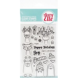 "Polar Peek9A-Boo Pals Clear Stamp Set 4""x6"" Avery Elle"