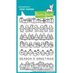 "Celebrate Winter Clear Stamps 4""x6"" Lawn Fawn"