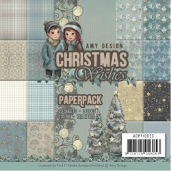 "Christmas Wishes Paper Pack 62x6"" Amy Design"
