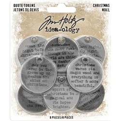 Christmas Quote Tokens Idea-ology by Tim Holtz