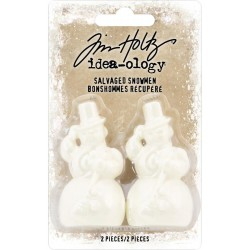 Salvaged Snowman Adornaments Idea-ology by Tim Holtz