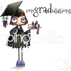 Oddball Girl Graduate The Oddball Collection Cling Stamps Stamping Bella
