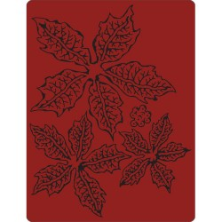 Tattered Poinsettia Texture Fades A2 Embossing Folder by Tim Holtz Sizzix