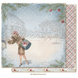 "Mail The Postcards 12""x12"" Christmas Season Collection Maja Design"