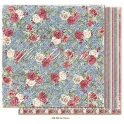 "Winter Roses 12""x12"" Christmas Season Collection Maja Design"
