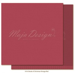 "Vintage Red Monochromes Shades Of Christmas 12"" x 12"" Maja Design"