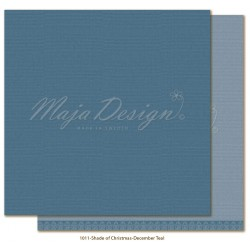 "December Teal Monochromes Shades Of Christmas 12"" x 12"" Maja Design"