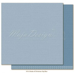 "Sky Blue Monochromes Shades Of Christmas 12"" x 12"" Maja Design"