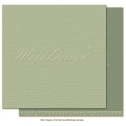 "Mistletoe Green Monochromes Shades Of Christmas 12"" x 12"" Maja Design"