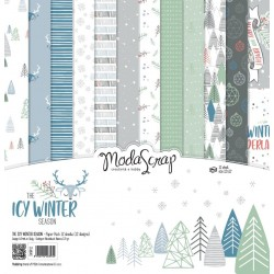 "The Icy Winter Season Paper Pack 12""x12"" ModaScrap"