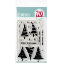 "Quirky Christmas Clear Stamps 4""x6"" Avery Elle"