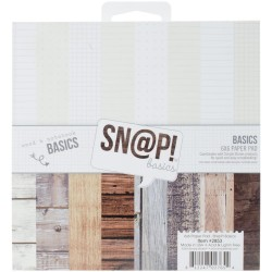 "Sn@p! Wood & Notebook Basics Paper Pad 6""x6"" Simple Stories"