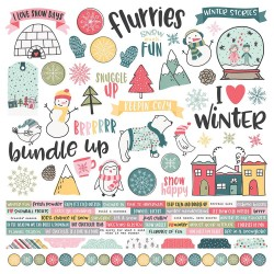 "Freezin' Season Combo Cardstock Stickers 12"" x 12"" Simple Stories"