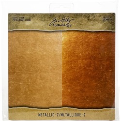 "Metallic 2 Paper Stash Kraft Metallic Paper Pad 8""x8"" Idea-Ology"