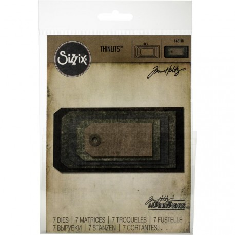 Stacked Tags Thinlits Dies By Tim Holtz Sizzix
