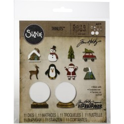 Tiny Snowglobes Thinlits Dies By Tim Holtz Sizzix