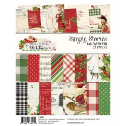 "Simple Vintage Christmas Paper Pad 6""x8"" Simple Stories"