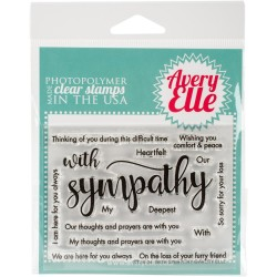 "Sympathy Clear Stamp Set 4""x3"" Avery Elle"