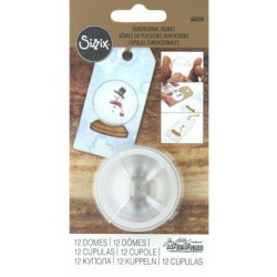 "Sizzix Dimensional Domes 12 Pkg Clear 1,25"" Inspired By Tim Holtz"