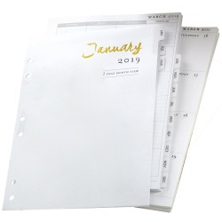 Personal Planner 12-Month Calendar Insert 2019 Color Crush Webster's Pages