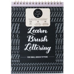 Small Brush Workbook for Small Brush Tip Pens Learn Brush Lettering Kelly Creates