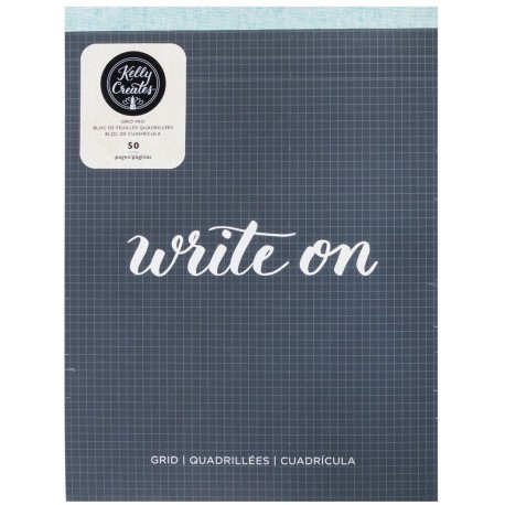 "Grid Paper Pad 8,5""x11"" for Brush Lettering Kelly Creates"