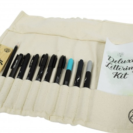 Deluxe Brush Lettering Kit Kelly Creates