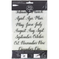 Months Acrylic Traceable Stamps Stamp & Trace Kelly Creates