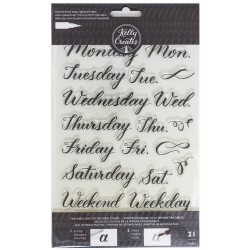 Days of the Week Acrylic Traceable Stamps Stamp & Trace Kelly Creates
