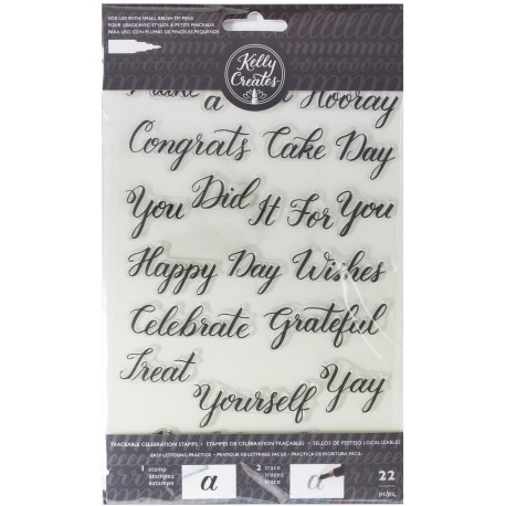 Celebration Acrylic Traceable Stamps Stamp & Trace Kelly Creates