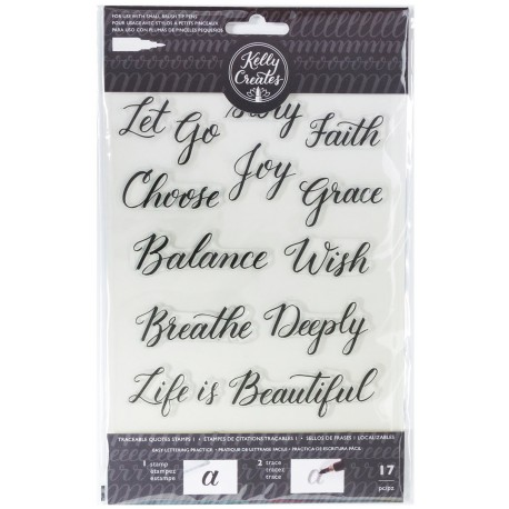 Quotes 1 Acrylic Traceable Stamps Stamp & Trace Kelly Creates
