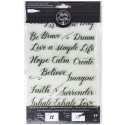 Quotes 3 Acrylic Traceable Stamps Stamp & Trace Kelly Creates