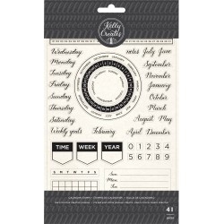Calendar Set Acrylic Traceable Stamps Stamp & Trace Kelly Creates